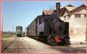 carrilet estació Cassà, any 1967